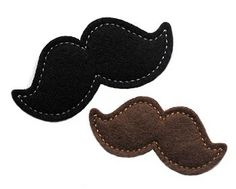 Mustache Clip Cover FELT STITCHIES (in the hoop)