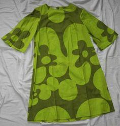 Vintage Finn Fashions by Stampe Short Dress 60s 70s Size 8 Marimekko   eBay