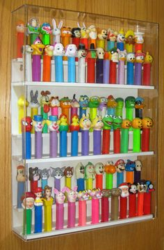 Hanging Display Rack with Clear Cover for your Pez collection. Holds 72-80 Pez. | the Pez Collectionary