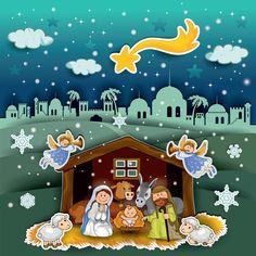 Nacimiento de Jesus Maria Jose Navidad-