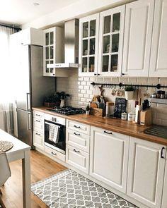 Kitchen Room Design, Home Room Design, Kitchen Cabinet Design, Modern Kitchen Design, Home Decor Kitchen, Interior Design Kitchen, Kitchen Furniture, Home Kitchens, Cuisines Design