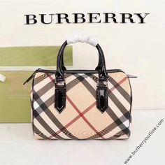 Burberry Nova Check Boston Bag In Black Cheap Burberry, Burberry Women, Burberry Outlet Online, Boston Bag, Leather Bag, Burgundy, Nova, Tote Bag, Brown