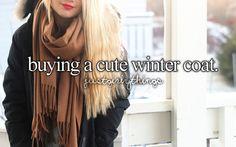 buying a cute winter coat