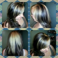 Black and blonde hair color