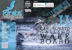 1 y 2 de Octubre, segunda edición del campeonato gallego de wakeboard en fornelos wake club. Pásate el fin de semana y disfruta del evento + consumición + camiseta por solo 8 euros. Para mas información, ponte en contacto a través de nuestra página web.