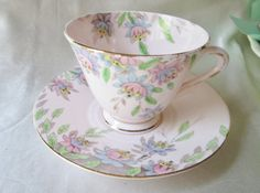 1940s English Hand Painted China Tea Cup and by teacupsfromsharon, $28.00