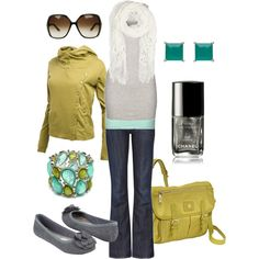 """lovely lime & teal"" by htotheb on Polyvore"