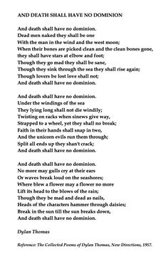 Dylan Thomas, And Death Shall Have No Dominion