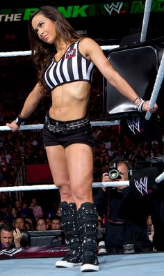 """AJ Lee - the best referee ever! (after """"Little Naitch"""" Charles Robinson, of course)"""