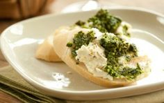 Baked Feta with Kale Pesto on Baguette | Whole Foods Market...make with Pistachios