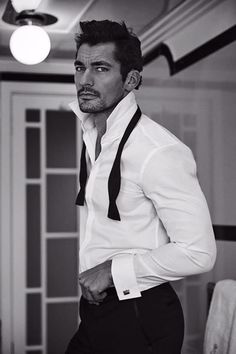 Is there anything better than Gandy half dressed in a tux?