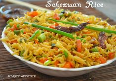 Schezwan Fried Rice Recipe / Veg Schezwan Fried Rice / Step by Step Rice Recipes, Indian Food Recipes, Vegan Recipes, Ethnic Recipes, Delicious Recipes, Vegetable Biryani Recipe, Cooking Basmati Rice, Recipe Master, Popular Recipes