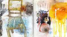 Creative Freedom art journal page by Orly Avineri