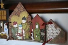 nativity scene in 7 stages Christmas Cards, Christmas Decorations, Christmas Ornaments, Holiday Decor, Accordion Book, Nativity Crafts, Christmas Projects, Artsy Fartsy, Scrap
