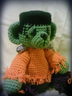 Looking for your next project? You're going to love Frankenstein Monster crochet bear by designer Jessica Gammon.