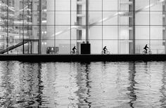 Andreas Krone创作的Three Cyclists