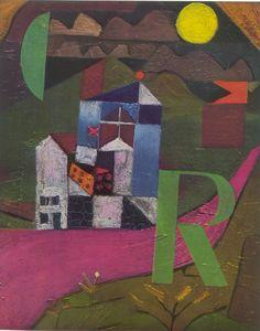 Paul Klee - Villa R.   1919. 26,5 x 22 cm. Oleo sobre lienzo.   Kunstmuseum, Basilea