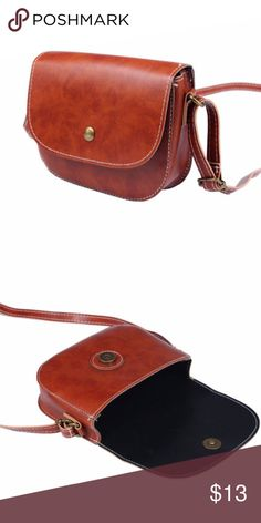 "Brown Mini Faux Leather Crossbody Bag Brand new without tags. Size 6"" L 5"" H 2""W Bags Crossbody Bags"