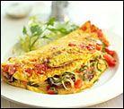 Omelette de tomate y muzzarella