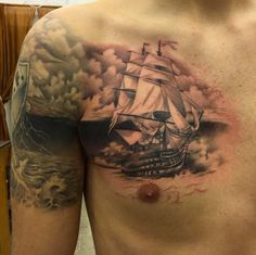 Connecting Ship Tattoo Design by Leigh Harris
