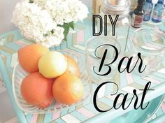 diy bar cart, painted furniture, repurposing upcycling