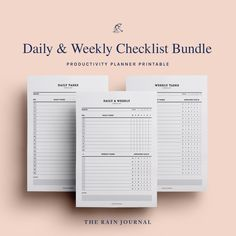 The Rain Journal Printable To Do List Planners - have a look at our huge To Do List Planner Printable library. Find daily, weekly, monthly and yearly checklist, to do list for home, school and work. These are perfect for your binders such as filofax and kikki k.  #printableplanner #planners #printables #printableplanners To Do Lists Printable, Printable Planner, Printables, Desk Stationery, Diary Entry, Journal Diary, Office And School Supplies, Planner Inserts, Yearly