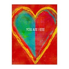 "StyleCraft Home Collection  DW32198DS ""You are Here"" Heart Wall Decor"