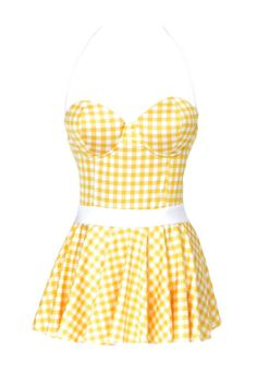 This gingham swimsuit evokes the cheery styles of the 1950s. It's perfect for a day in the sun, whether or not you cruise the boardwalk. ($101, unique-vintage.com)