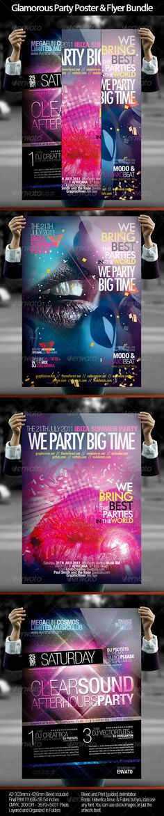 Glamorous Party Poster & Flyer Bundle