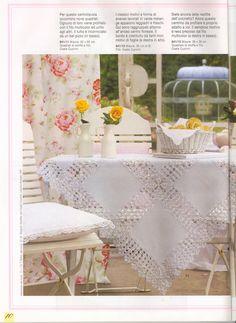 """Photo from album """"Burda Special Вязание крючком. Filet Crochet, Crochet Motif, Crochet Doilies, Knit Crochet, Crochet Patterns, Tablecloth Fabric, Crochet Tablecloth, Crochet Projects, Sewing Projects"""