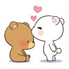 Ideas For Wall Paper Couple Cartoon Cute Cartoon Images, Cute Couple Cartoon, Cartoon Pics, Cute Cartoon Wallpapers, Cute Bear Drawings, Cute Couple Drawings, Kawaii Drawings, Cute Drawings Of Love, Cute Love Gif