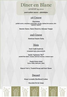 The amazing meal one guest brought to Diner en Blanc Philadelphia- August 23rd
