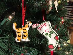 Adorable ornaments by Richard & Robin Sanchez, Fired Up Ceramics
