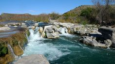 Dolan Falls with a 10' waterfall is on the Devil's River Natural Area in Comstock TX near Del Rio.