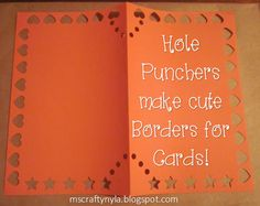 Use a few shape paper punchers to make a simple, but creative card for your sponsored child.
