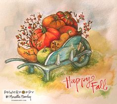 Power Poppy - The Blog: New Digi on the 5s: Fall Haul - Coloring by Marcella Hawley