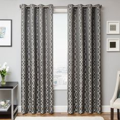 This stunning window panel is available in a variety of colors to better enhance your decor. Crafted of 100 percent polyester, it is sure to last for years to come.