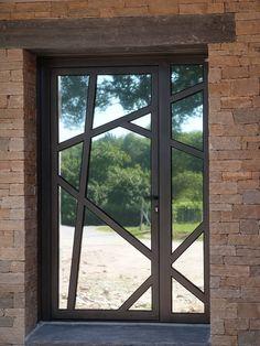 65 Super Ideas For Exterior Design House Modern Porches Wooden Front Door Design, Door Gate Design, Glass Front Door, Window Design, Exterior Front Doors, Patio Doors, Entry Doors, Modern Porch, Modern Front Door