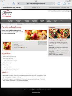 Slimming World Parsnip & Apple Soup
