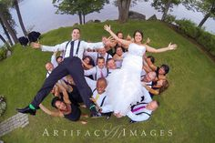 Fun Wedding Party Pose | Artifact Images http://www.weddingphotousa.com/newhampshire/artifactimages-rollinsford-nh-wedding-photographer.php