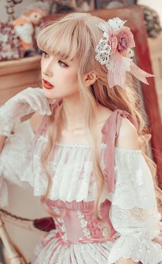 The Fairy Doll Vinateg Classic Lolita OP Dress,Lolita Dresses, Harajuku Fashion, Kawaii Fashion, Cute Fashion, Asian Fashion, Girl Fashion, Fashion Dresses, Fashion Design, Fashion Goth, Mori Girl