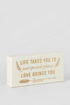 Love Brings You Home Box Sign