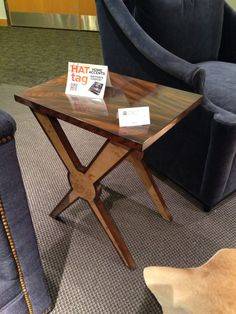 A striking X-shaped base supports the Buckhead side table by @gabbydecor. #HATtag #hpmkt