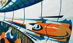 Paul Cleden - Printmaker and Illustrator - Linocuts :: Very much like The Grosvenor group!