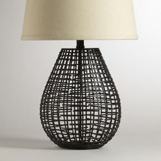 One of my favorite discoveries at WorldMarket.com: Pasha Basketwork Table Lamp Base