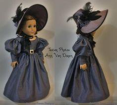 PDF Pattern Cynthia Bonnet for 18 inch dolls such as American Girl American Girl Outfits, American Doll Clothes, Girl Doll Clothes, Doll Clothes Patterns, Doll Patterns, Girl Dolls, Ag Dolls, American Girls, Craft Patterns