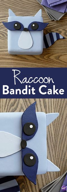 How to Make a Raccoon Cake - For a woodland themed party, this Raccoon Bandit Cake will steal the show! Use Decorator Preferred fondant and icing colors to easily create this little critter. Also great for themed birthday parties!