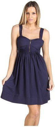 ShopStyle: Jessica SimpsonPleated Tank Dress (Navy) - Apparel