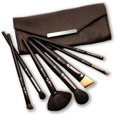 BORGHESE 7-Piece Professional Select Cosmetic Face & Eye Brushes (277.060 IDR) ❤ liked on Polyvore featuring beauty products, makeup, makeup tools, makeup brushes, beauty, cosmetics, filler, angled makeup brush, foundation brush and eyeshadow brush