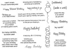 CC Designs - Cling Mounted Rubber Stamps - Birthday Sentiments